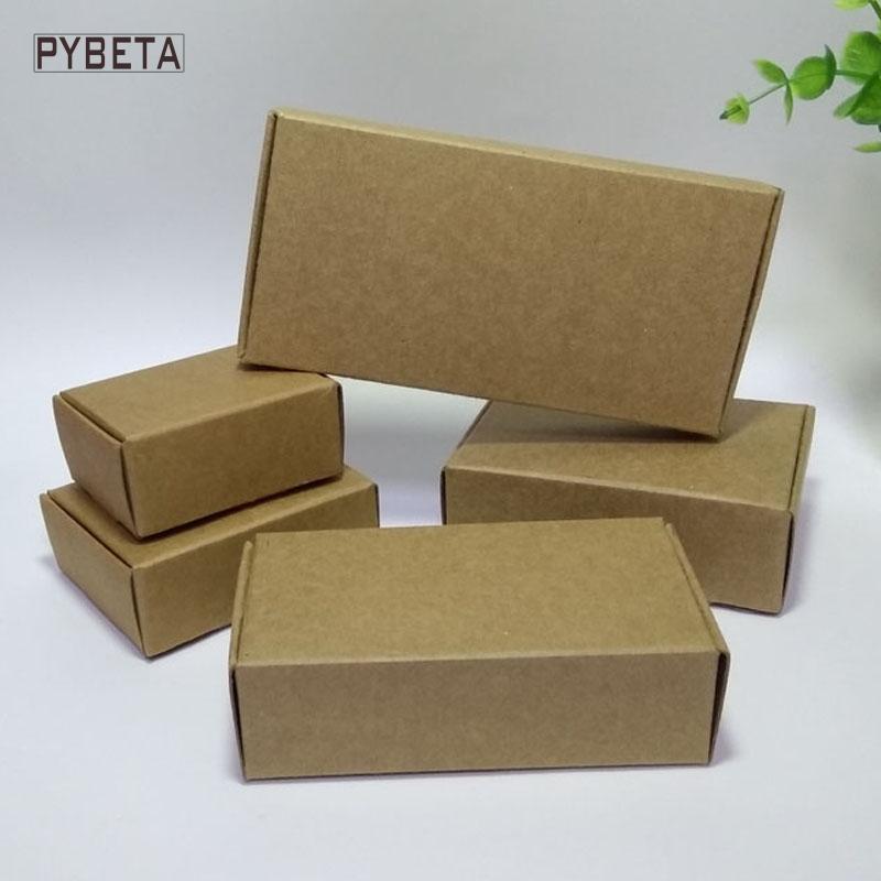 50 pcs (80-133mm) caixa de embalagem de papel kraft Em Branco para sabão artesanal balas jóias acessórios caixas de presente