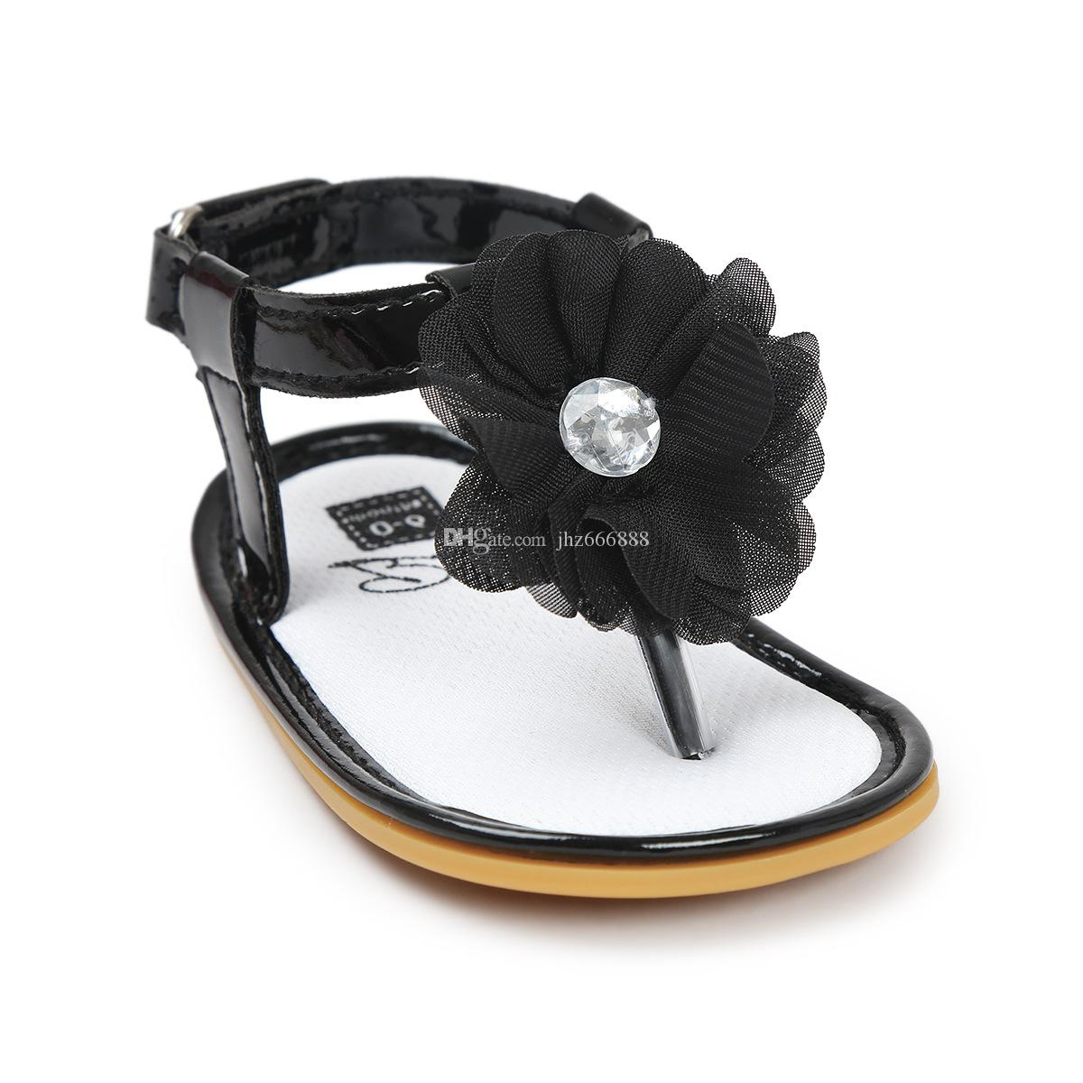 Black sandals baby girl -  2017 New Summer Baby Girls Shoes Flower Stone Princess Infant Toddler Sandals Girl Anti Slip Kids