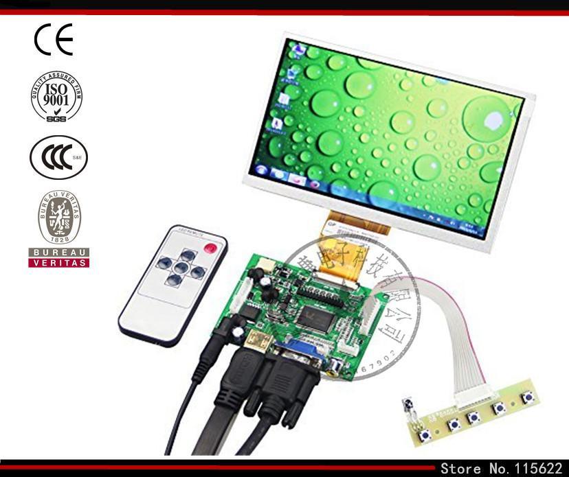 7 pollici Raspberry Pi Schermo LCD Monitor TFT con ingresso HDMI VGA Driver Board Controller