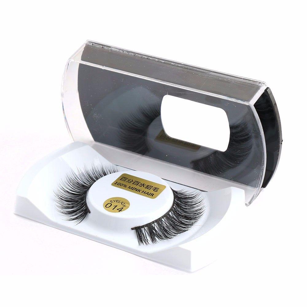 100% Real Mink Natural Thick False Fake Eyelashes Eye Lashes Makeup Extension Beauty Tools Wholesale Free Shipping