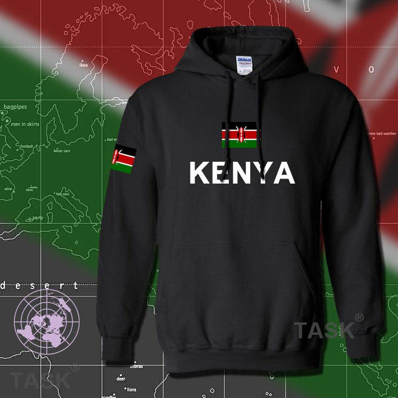 Gros- du Kenya hommes Kenyanhoodies sweat-shirt suent nouveau pays sportif footballeur nation Survêtement hip hop streetwear KEN