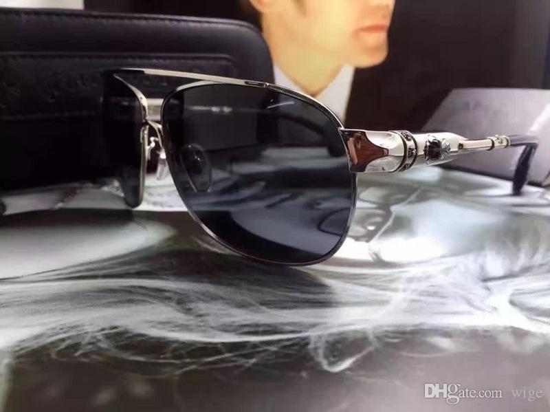 Mens Black Pilot солнцезащитные очки Классический Стиль Sonnenbrille дез люнеты де Солей Мода очки Оттенки Новые С Case