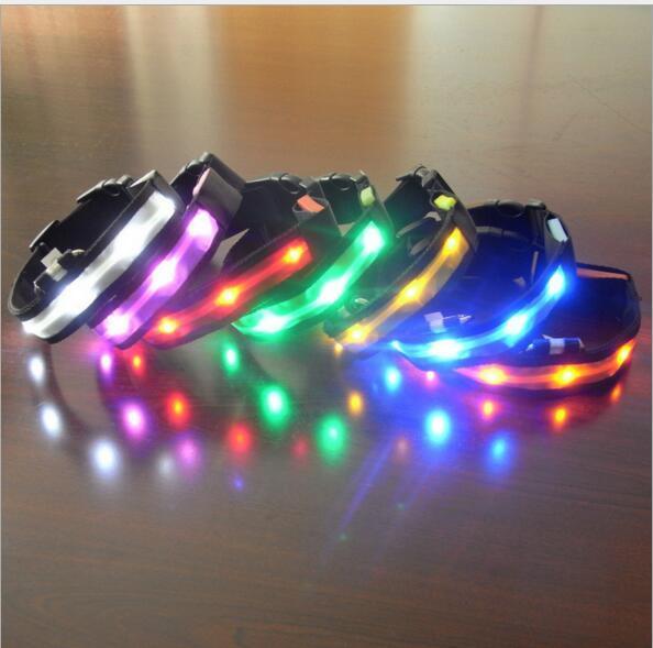 Pet Dog Collar LED Flash Collars Dog Cat Collars Flashlights Dibo America Huskies Teddy Collars S M L XL LED Pet Supplies