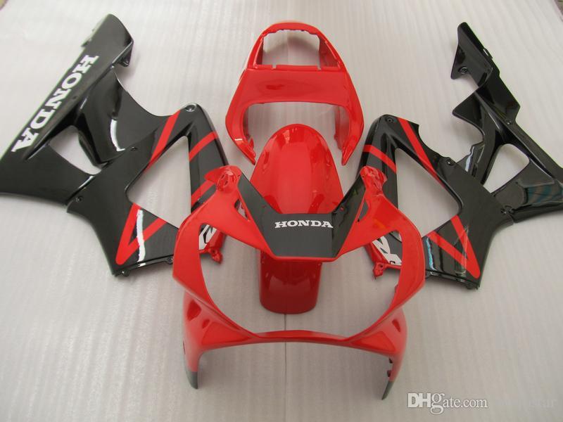 Injection motorcycle fairing kit for Honda CBR900RR 00 01 red black fairings set CBR929RR 2000 2001 OT37