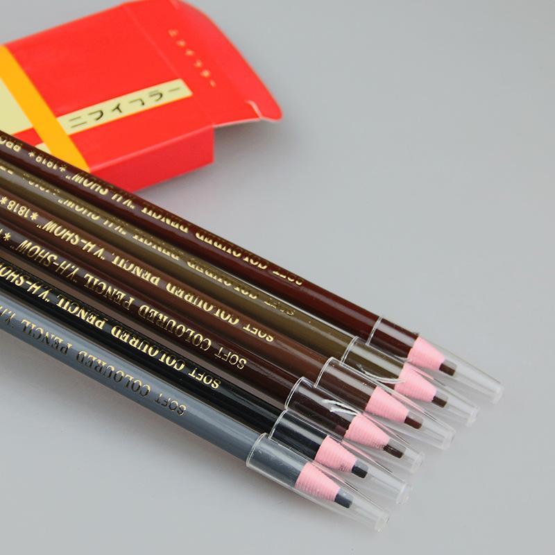 2018 Novo Jj565 45g Acima de Seis Cores Natural Studio 1818 Especial À Prova D 'Água Lápis de Sobrancelha Desenho Pen Paper Soft Pull Cosméticos Atacado
