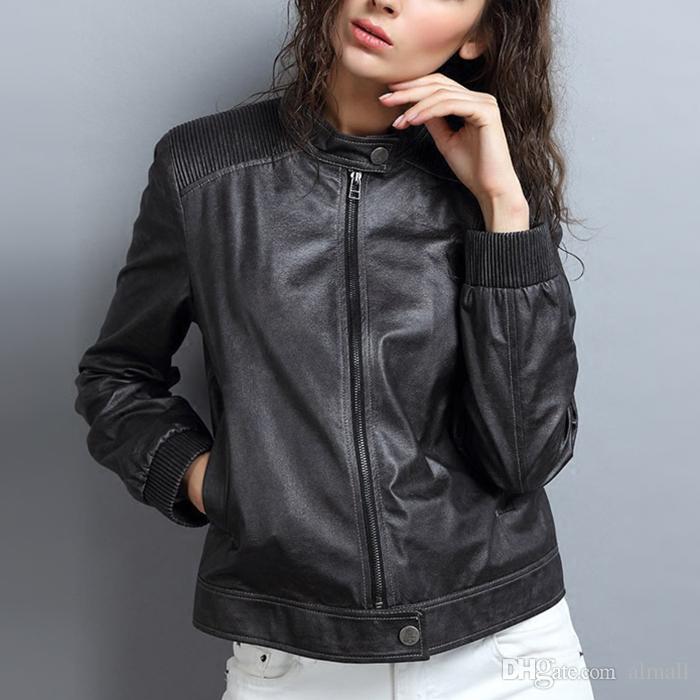 2017 nuova moda autunno inverno PU giacca in pelle da donna a maniche lunghe con cappuccio moto giacca da donna con cerniera cappotto capispalla