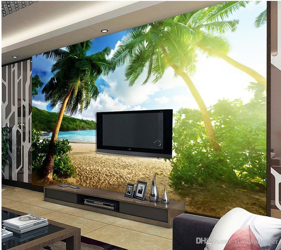 Träume von schönen Insel Strand mit Palmen Hintergrund
