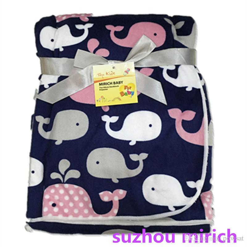 cartoon pattern whale designs baby blankets for baby girls and baby