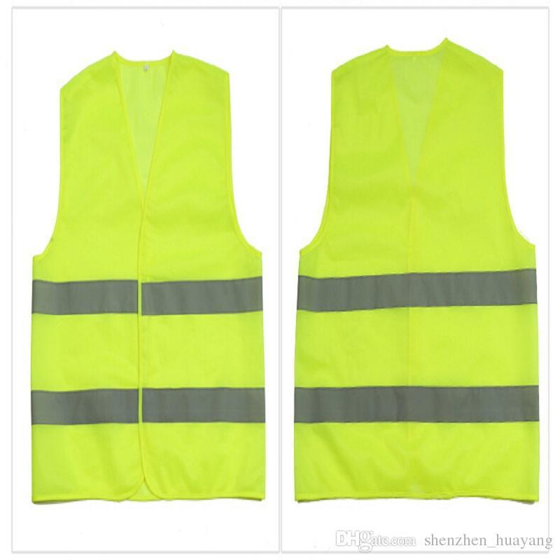High Visibility Working Safety Construction Vest Warning Reflective traffic working Vest Green Reflective Safety Clothing LJJC1792 50pcs