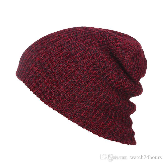 1PC Knit Men's Baggy Beanie Oversize Winter Warm Hats Slouchy Chic Crochet Knitted Cap for women girl's hat thick female cap