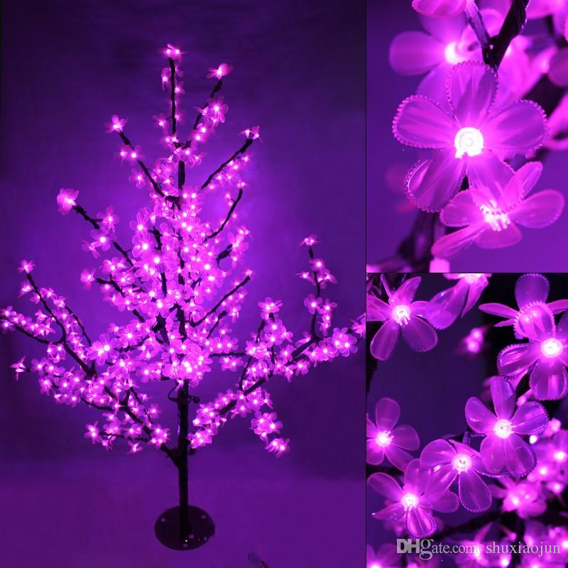 LED Cherry Blossom Tree Light 200pcs LED Bulbs 0.8m Height 110/220VAC Seven Colors for Option Rainproof Outdoor Usage