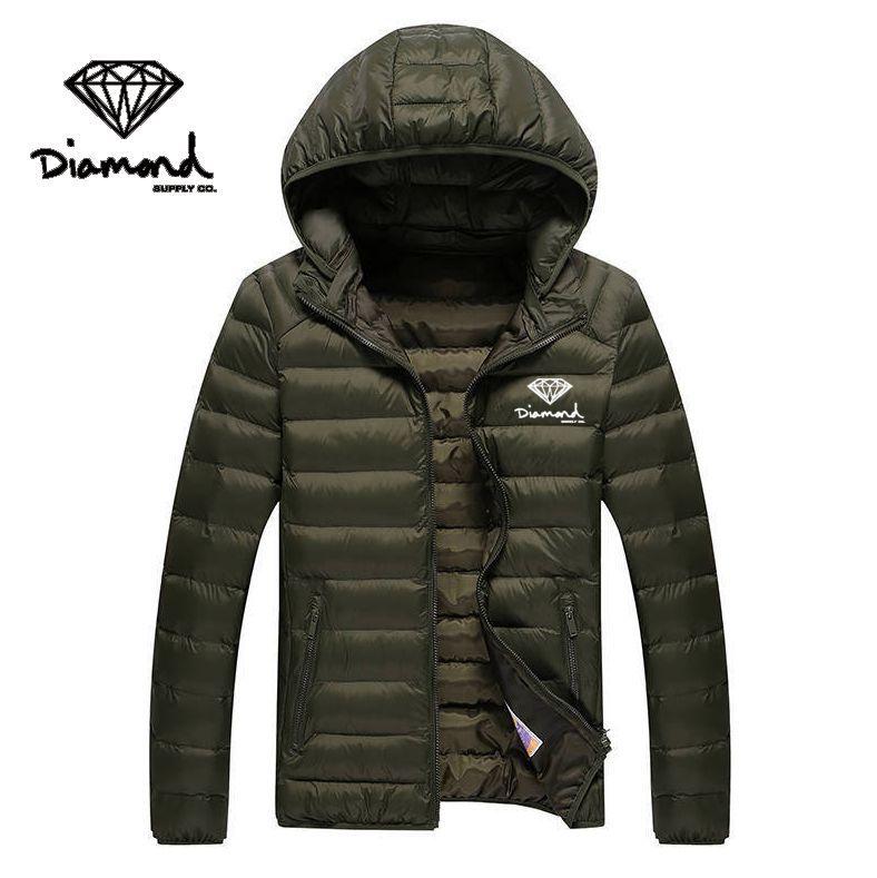 W85013451 frete grátis Roupas masculinas de Abastecimento de Diamante Casuais estilo longo para baixo jaqueta hip hop hoodies casaco dos homens Parkas