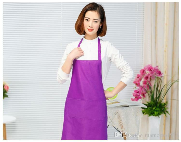 1PC 방수 폴리 에스터 앞치마와 주머니 요리사 웨이터 주방 조리 도구 주방 에이프런 홈 레스토랑 과자 도구 LB 404