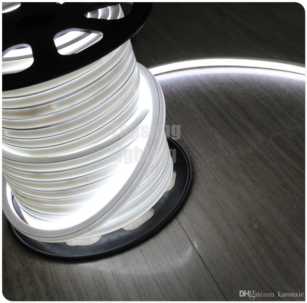 50м 16x16mm квадрата SMD Сид неоновый гибкий трубопровод Сид неоновый пробки 24В Синглер цвет RGB изменяя Сид неоновая трубка