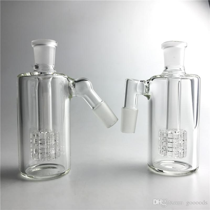 Thick Pyrex Glass Bong Ash Catcher with 14mm 14.4mm 4.5 Inch Mini Bubbler Ash Catchers Clear Glass Water Ashcatcher