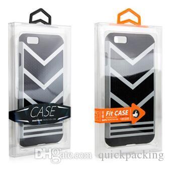 OEM تصميم الشعار PVC البلاستيك حزمة البيع بالتجزئة مربع نفطة الداخلية حامل الهاتف الجلود حالة الهاتف القضية لفون X 8 6S 7 Samsung S7 Edge