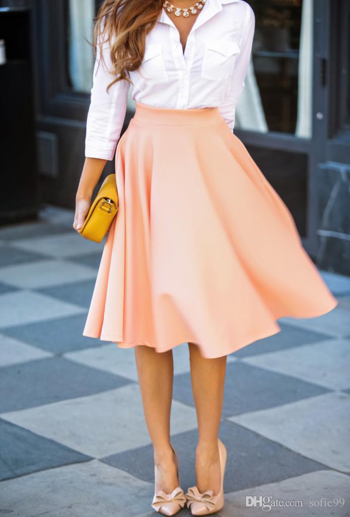 Летняя свободная юбка