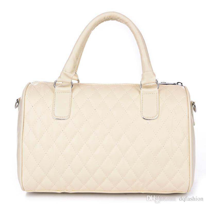 Women's Motorcycle Shoulder Bags Handbags Girl's Casual Diamond LatticeTotes Bags Female PU Leather Handbags Crossbody Bags