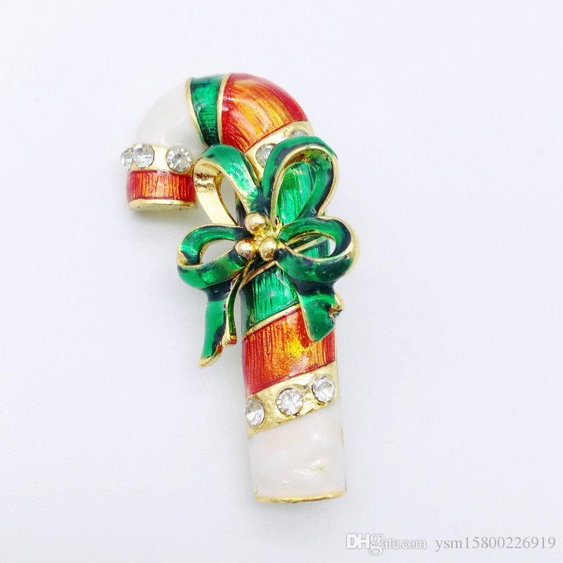5PCS neues Jahr-Reihen-Metalltropfen-Band-Bohrgerät-Weihnachtsblume Doppelt-Gebrauch Brosche 41 * 23MM Schmuck-Geschenk-Weihnachtsdekorations-Brosche