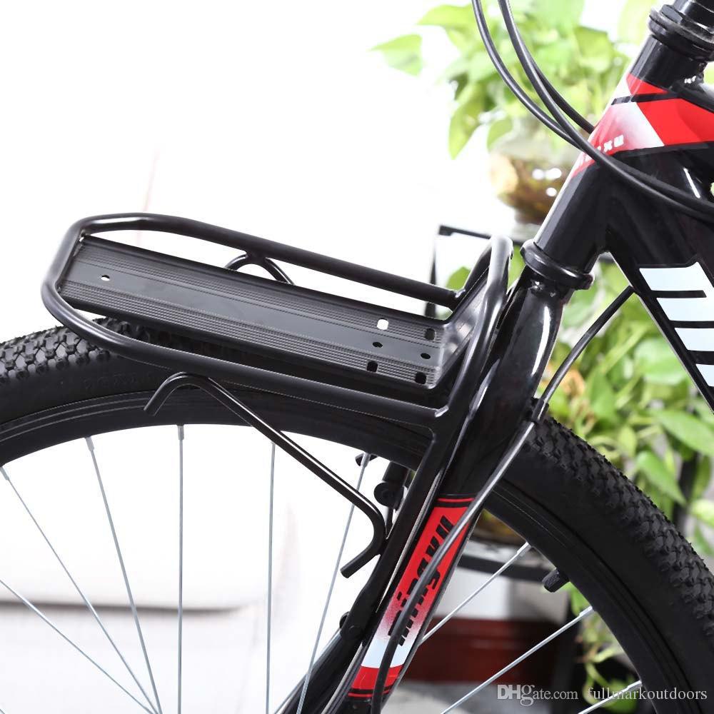 Ciclismo de Bicicleta de Montanha de Liga de Alumínio Frente Rack de Suporte de Bicicleta Cremalheira Pannier Racks para Ciclo de Dobramento de Estrada MTB