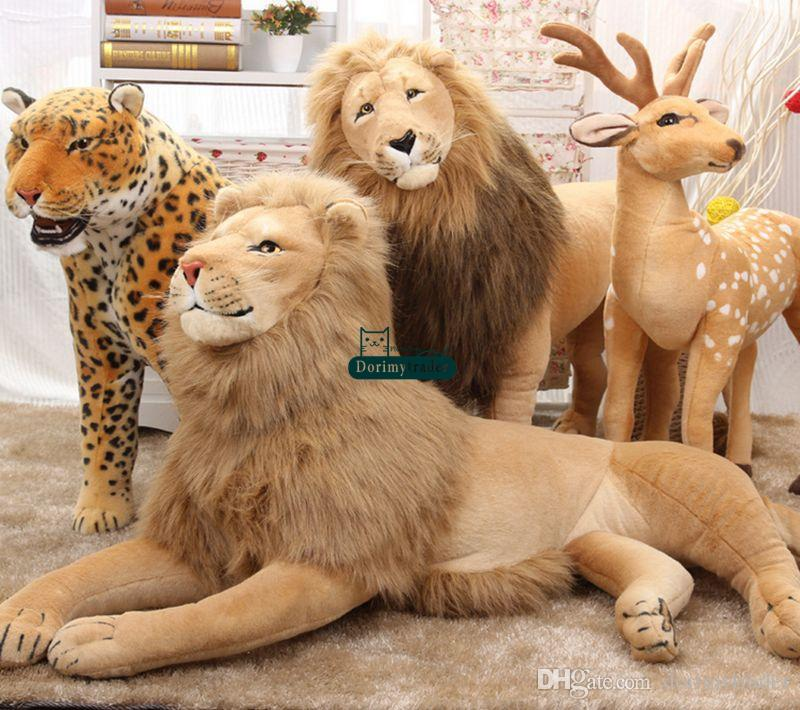 Scary Squeeze Stuffed Animals, 2020 Dorimytrader Huge Simulation Animal Lion Stuffed Toy Home Decoration Photography Props Kids Gift 51inch 130cm Dy60767 From Dorimytrader 93 27 Dhgate Com