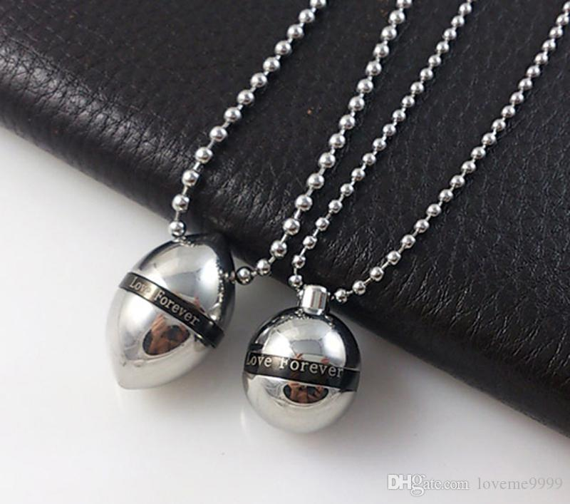 Нержавеющая сталь серебро любовь навсегда Мемориал кремации ювелирные изделия пепел урны мяч кулон Хайн на память ожерелье урны унисекс Мужчины Женщины