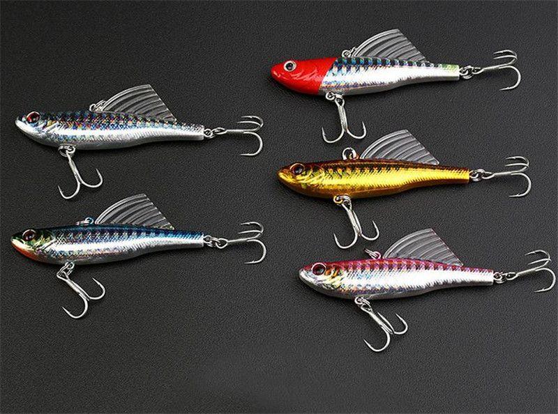 High Quanlity Wobbler Swimming Imitation Fin Fish Pencil Crankbaits lure hooks 7cm 18g 5colors Casting Laser Artificial baits