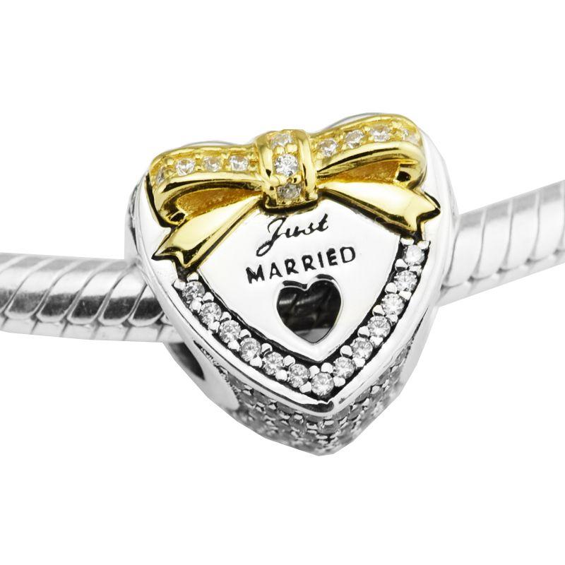 Acheter Fit Pandora Bracelet Mariage Coeur Clair Perles Cz Juste Joyeux  Charme Pour Femme Original 925 Bijoux En Argent Perles De Fabrication  Perles ...