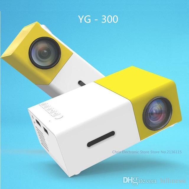 Mesuvida Genuine YG300 Projetor YG 310 LED Portátil 500LM 3.5mm de Áudio 320x240 Pixel YG-300 HDMI USB Mini Projetor Media Playe + B