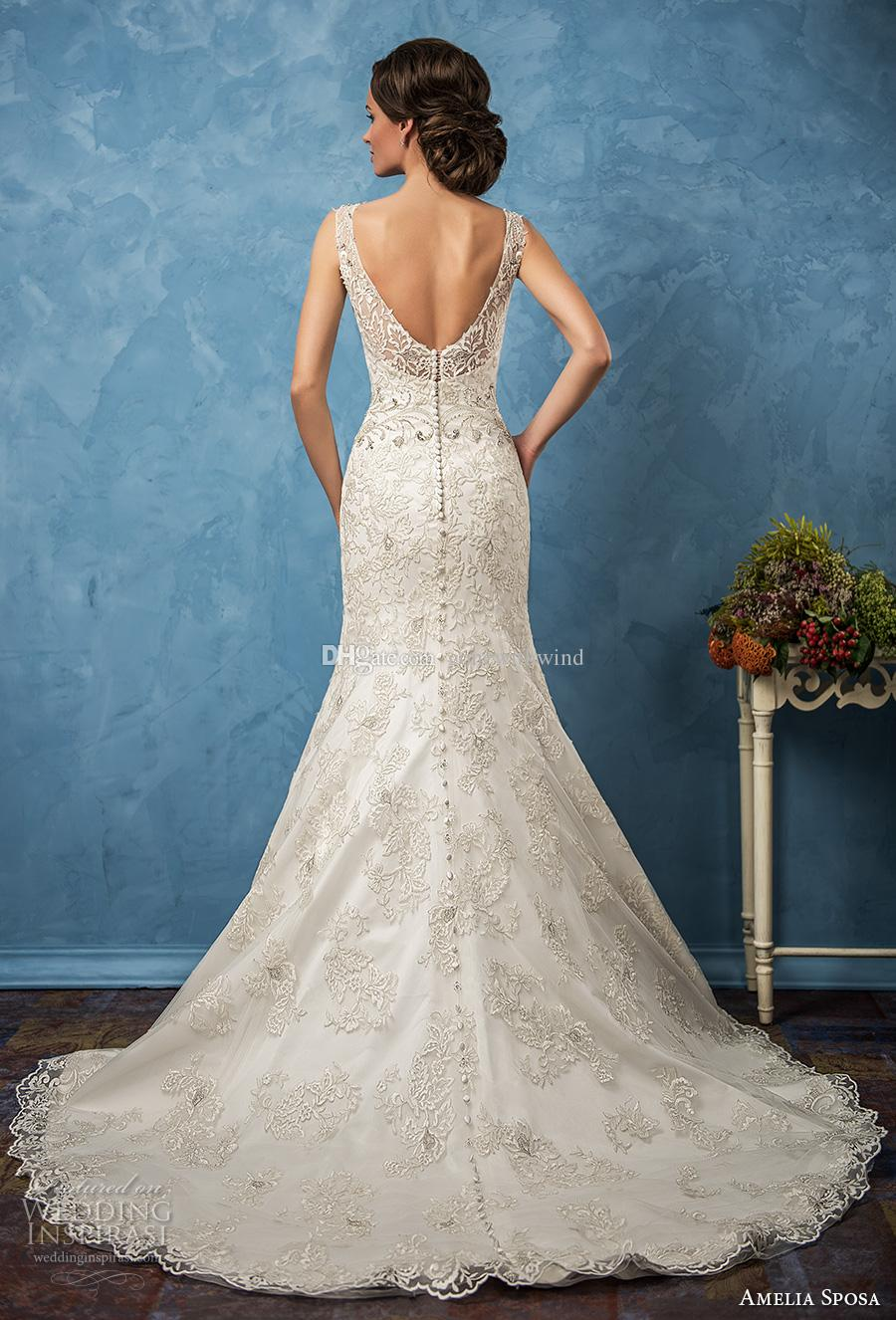 Mermaid Wedding Dresses 2017 Amelia Sposa Bridal Gowns Thick Lace ...