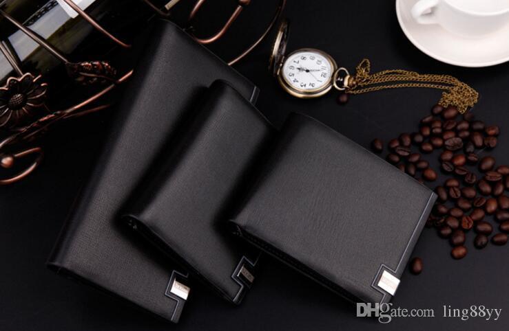 Емкость кошельки карт кошельки Portefeuille Длинная сумка кошелек Homme держатель телефона мужской мужской кожаный кожаный кожаный кошелек для монет AOTCL
