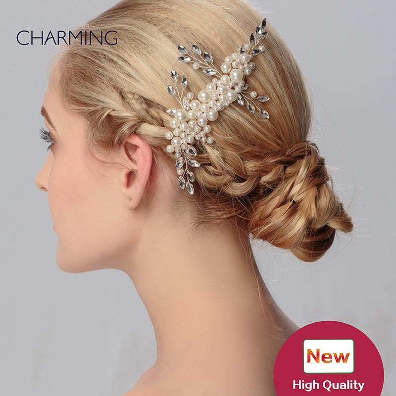 wedding accessories pearls set unique hair accessories bridal tiaras crystals pearls wedding tiaras cheap wedding flower hair vines