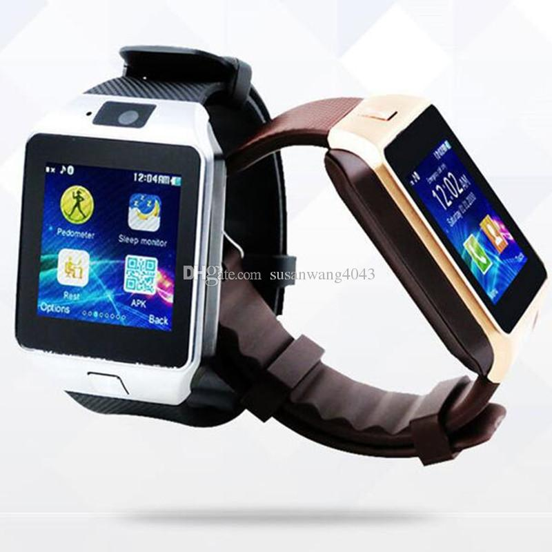 Bluetooth Smart Watch Sync SIM Card Phone for iPhone 7 6s Plus S6 s7 HTC Android IOS Phone many language DHL free USZ032