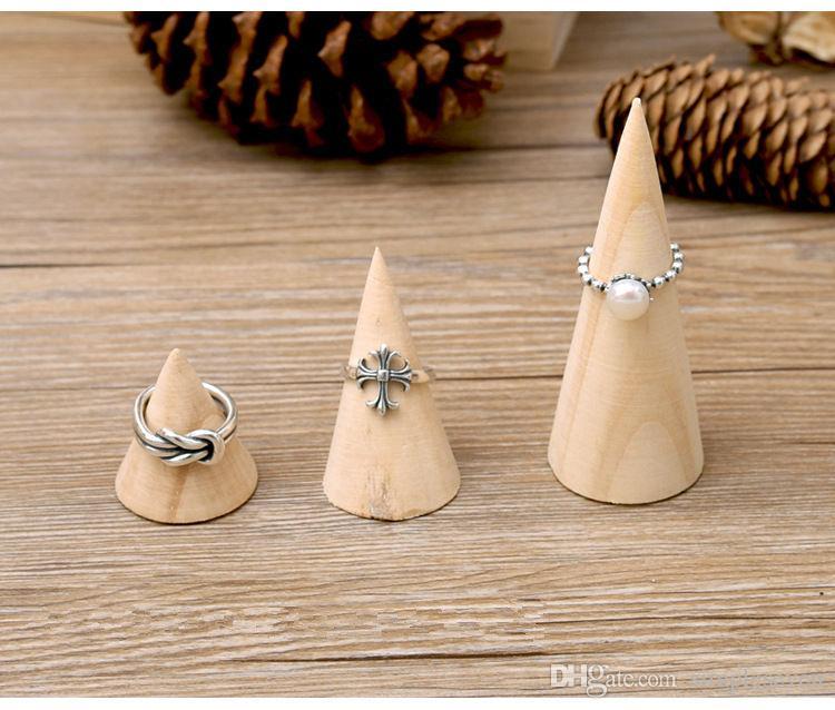 [Simple Seven] Muji Style Ringkegel Display Hochwertige Naturholz-Schmuckschalen