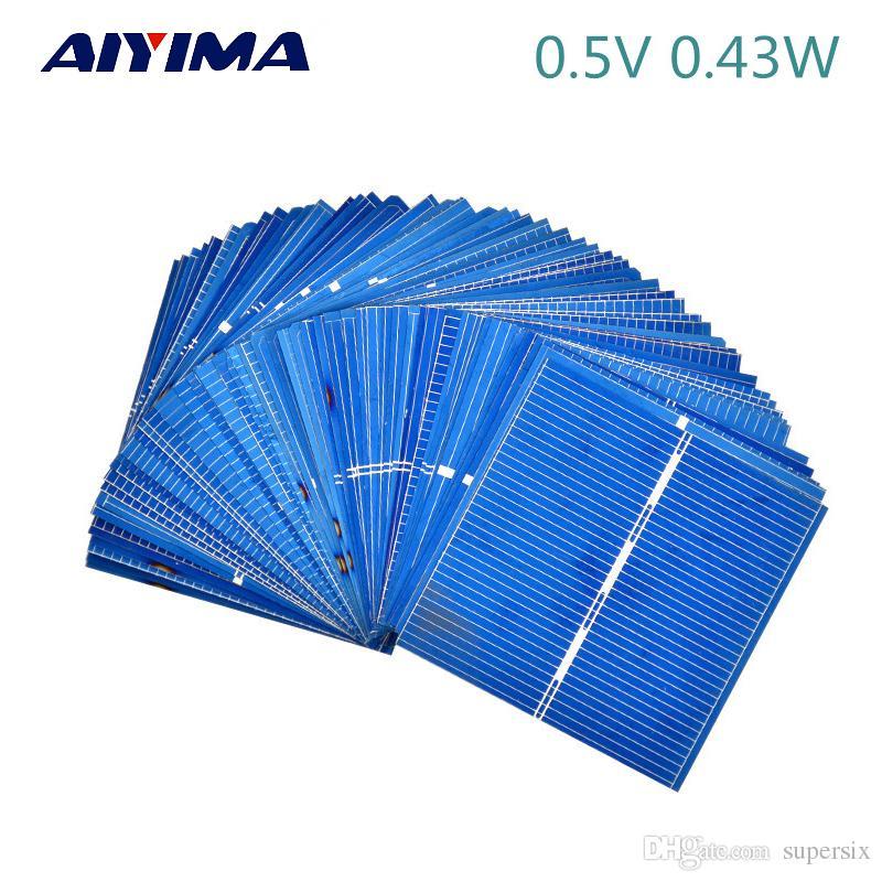 50 قطع الصين painel الشمسية ل diy الخلايا الشمسية الكريستالات الألواح الضوئية diy شاحن البطارية الشمسية