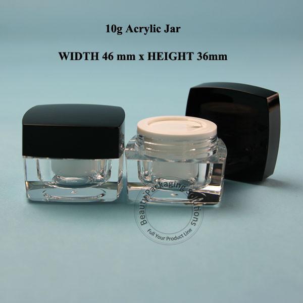10PCS / LOT Promotion 10G Pot De Crème En Acrylique 10ml En Plastique Femmes Petit Vide Cosmétique Conteneur Cosmétique Maquillage 1 / 3OZ Flacon Rechargeable