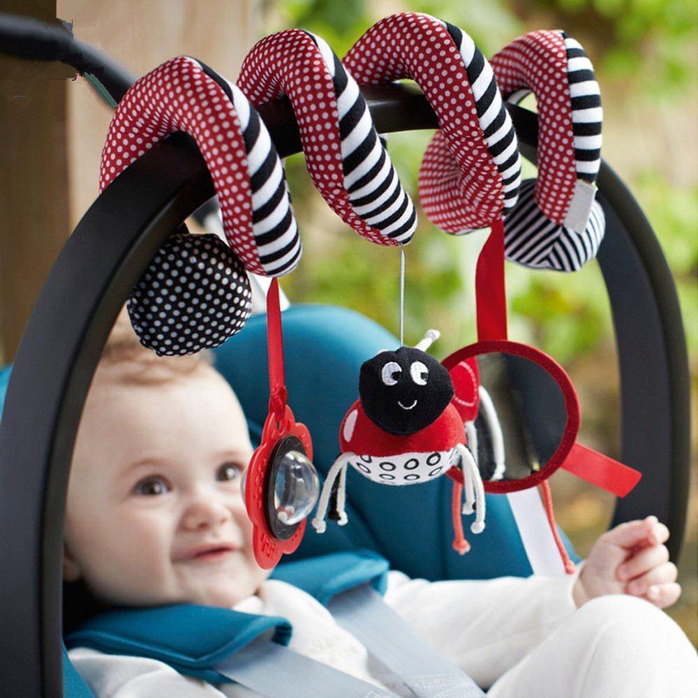 Babyplay infantil lindo del bebé Juguetes Espiral de actividades de la cama del cochecito conjunto de juguete colgante de campana del pesebre Rattle juguetes para bebé