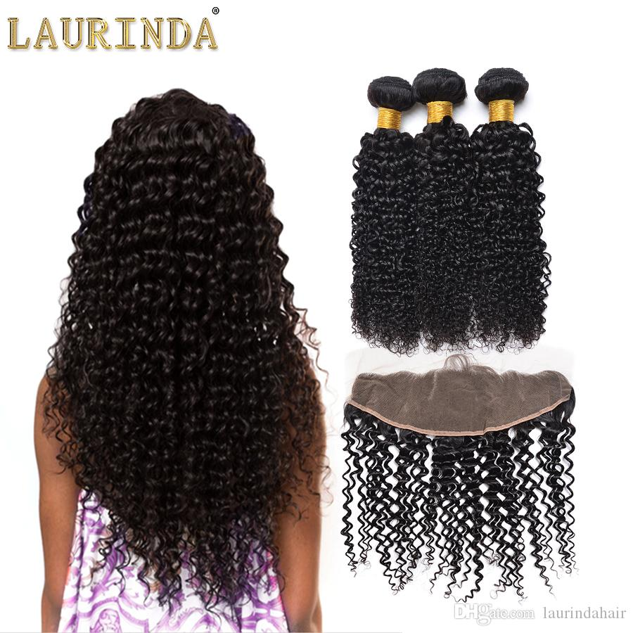 2018 7a Peruvian Human Hair Curly Wave Lace Closure And Hair Weaves