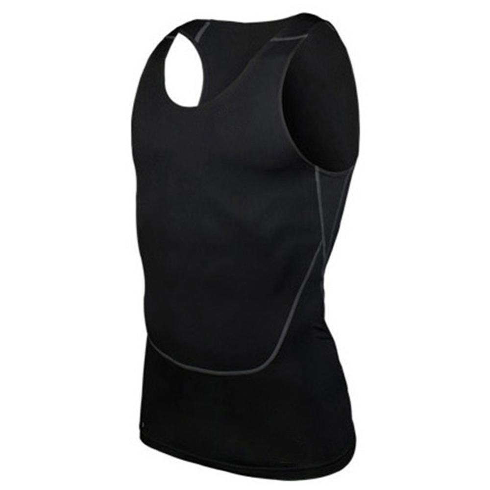 Toptan-Chic Erkekler Sıkıştırma Baz Hattı egzersiz Fitness Kolsuz Gömlek Yelek Nefes Üst S-2XL