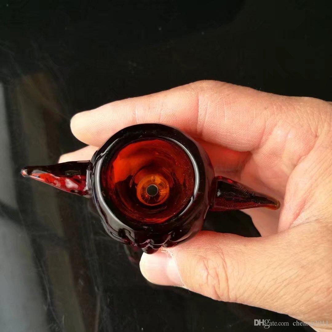 Tête de canon d'une bête humaine, Bongs en gros Tuyaux de brûleur à mazout Pipes à eau Tuyau de verre Rigs d'huile fumant la livraison gratuite