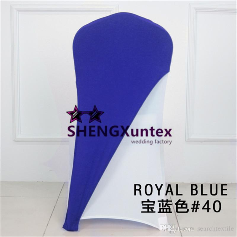 Royal Blue Color Lycra Spandex Chair Cap \ Hood For Chair Cover