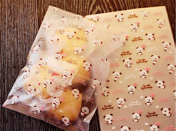 100pcs/lot- Cute Bear Cookie Pouch Gift Bag Food Package