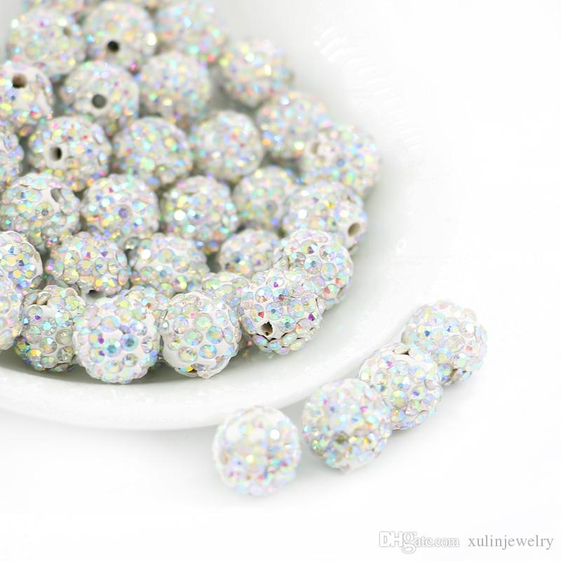 Vente en gros Mélange Polymère Fimo Clay Round Ball Loose Spacer Beads 6,8,10,12mm