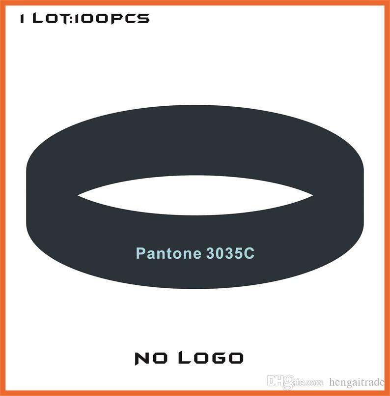 100PCS/Lot High quality Customized Color rubber silicone bracelets for promotional gifts B358