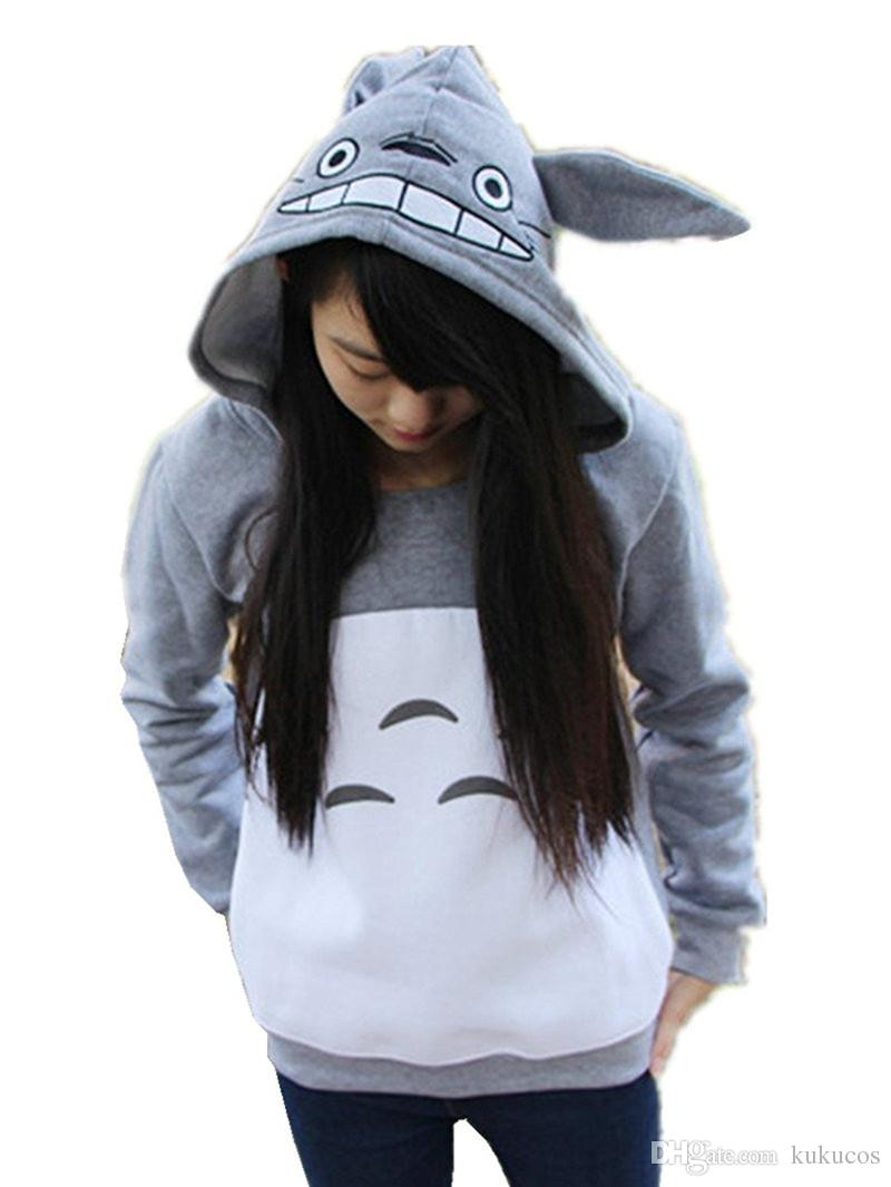 Kukucos My Neighbor Totoro Costume Pullover Hoodies Casual Sweatshirt Cosplay Gift For Fans