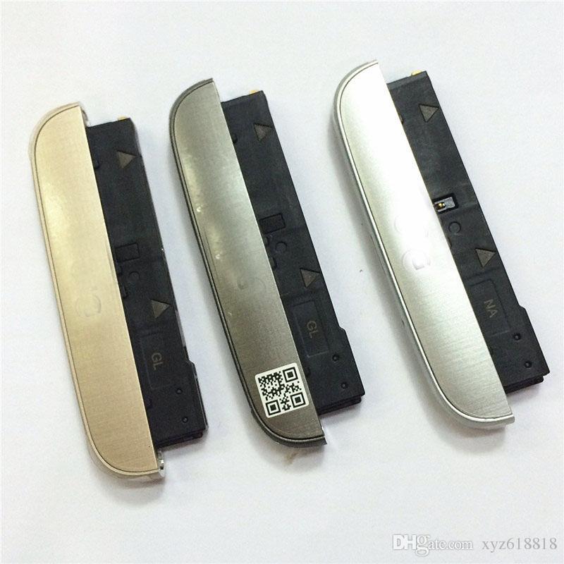 Tapa de cubierta inferior original + altavoz Ringer + puerto de carga USB Flex Cable Module Assembly para LG G5 H850 H860 H868 Silver Grey Gold