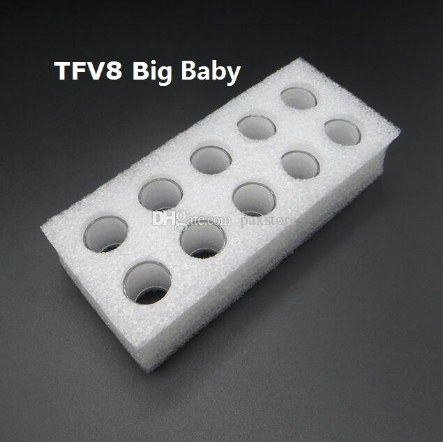 DHL FREE TFV8 Big BABY Glass Tube Clear Pyrex Replacement Glass Sleeve Tube for 5ML TFV8 Big BABY Tank RBA Wholesale