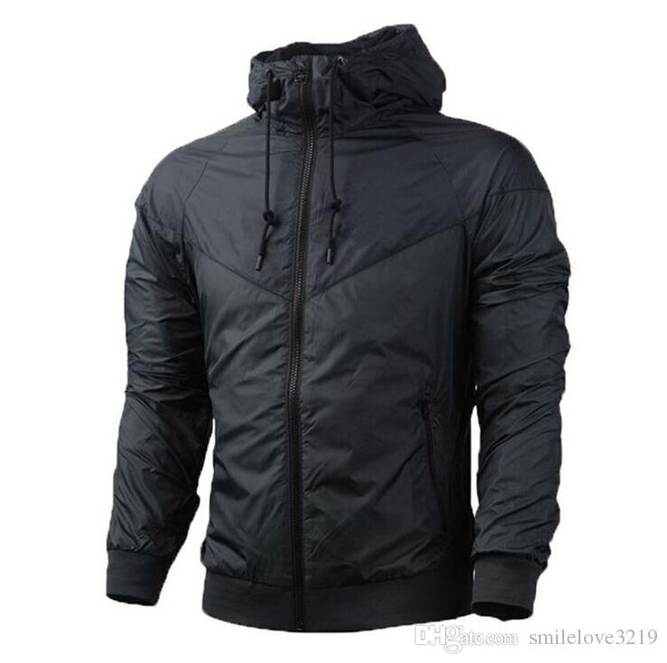 Uomini primavera autunno windrunnersh giacca giacca sottile giacca cappotto, uomini e donne sport giacca a vento giacca esplosione di modelli neri coppia clothin men