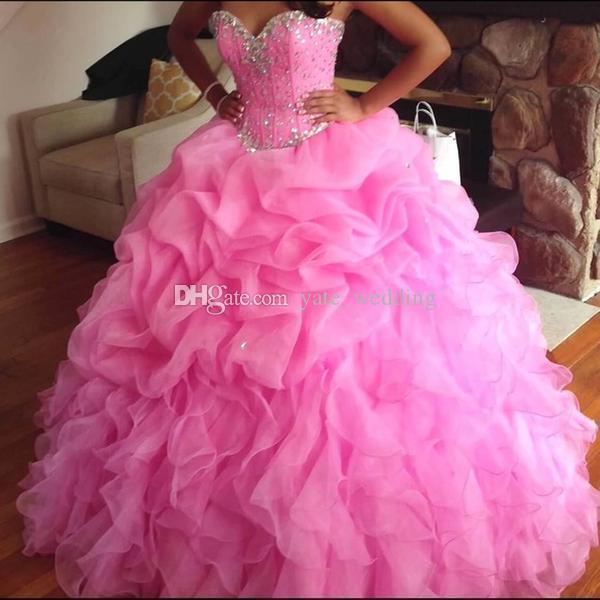 Menta Vestido de Bola Verde Quinceanera Vestidos Sweetheart Crystal Organza Plus Size Luz Roxo Doce 16 Vestidos Lace Up Back