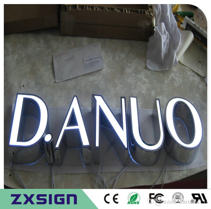 공장 아울렛 맞춤형 옥외 광고 아크릴 LED 문자 간판, 전조 점포 표지판, LED 채널 문자 가게 앞 표지판